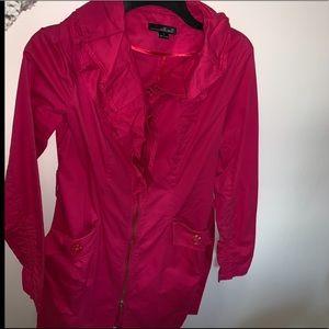 Pink zip up pea coat